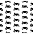 Motorcycle symbol seamless pattern vector image vector image