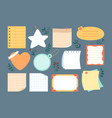 notebook paper sticky planner note page set vector image vector image