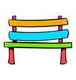 park bench icon icon cartoon vector image vector image