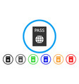passport rounded icon vector image