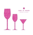 pink abstract flowers texture three wine glasses vector image vector image