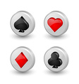 Playing card symbol icons vector image vector image