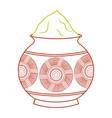 powder color mud pot and mandala vector image vector image
