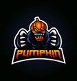 pumpkin mascot logo vector image