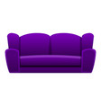 purple sofa icon cartoon style vector image