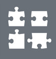 puzzle pieces parts puzzles graphic template vector image vector image