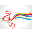 rainbow music note background vector image vector image