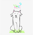 seated dog with a question vector image
