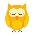 sleeping little owl in flat style vector image vector image