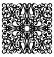 Square mono color ornament with stylized drop vector image vector image