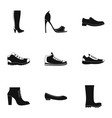 sturdy shoes icons set simple style vector image vector image