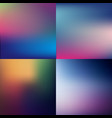 sweet summer blurred background set vector image