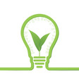 thnk green concept light bulbs with leaf inside vector image vector image