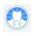 tooth round logo vector image vector image