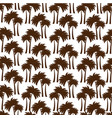 tree palms pattern background vector image vector image