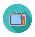 TV single icon vector image