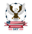 usa independence day card with eagle vector image
