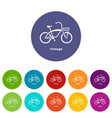 vintage bicycle icon simple style vector image vector image