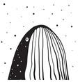 whale monochrome vertical design vector image