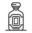 whiskey bottle icon outline style vector image