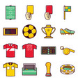 world cup football set of icon vector image