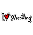 wrestling love vector image