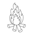 monochrome silhouette of bonfire icon vector image