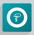 flat medical sign icon vector image