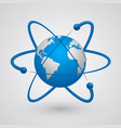satellites around the earth vector image