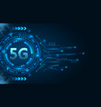 5g new wireless internet wi-fi connection hud vector image vector image