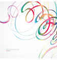Abstract background with multicolored lines vector image