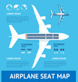 airplane plan seat map card vector image vector image