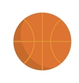 basketball ball orange sport icon graphic vector image vector image