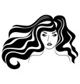 beautiful charming lady vector image vector image