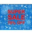 Big winter sale poster with SUPER SALE 70 PERCENT vector image vector image