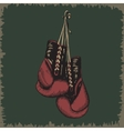 Boxing glovesVintage label vector image vector image