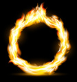 Burning ring Stock vector image vector image