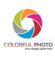 Colorful foto logo vector image vector image