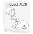 Coloring worksheet vector image vector image