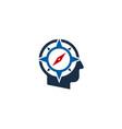 compass human head logo icon design vector image vector image