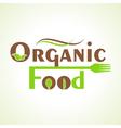 creative organic food design word concept vector image vector image