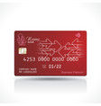 credit card red design with arrows sign and shadow vector image