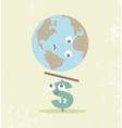 Crisis finance currency dollar balance vector image vector image