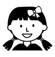 cute little girl avatar character vector image