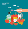 dentist services flat style design vector image vector image