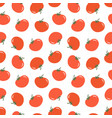 eamless pattern background with red tomatoes vector image