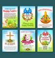 easter holiday celebration banner template set vector image vector image