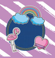 embroidery patch denim vector image vector image