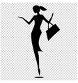 Female silhouette isolated of vector image vector image