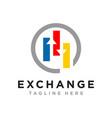 financial marketing business logo vector image vector image